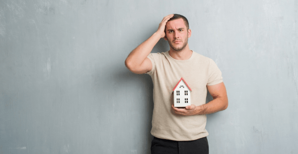Man Getting Frustrated Because Of The Process Of Selling His House